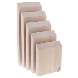 Upright Magnetic Knife Block - White-Colored Beechwood