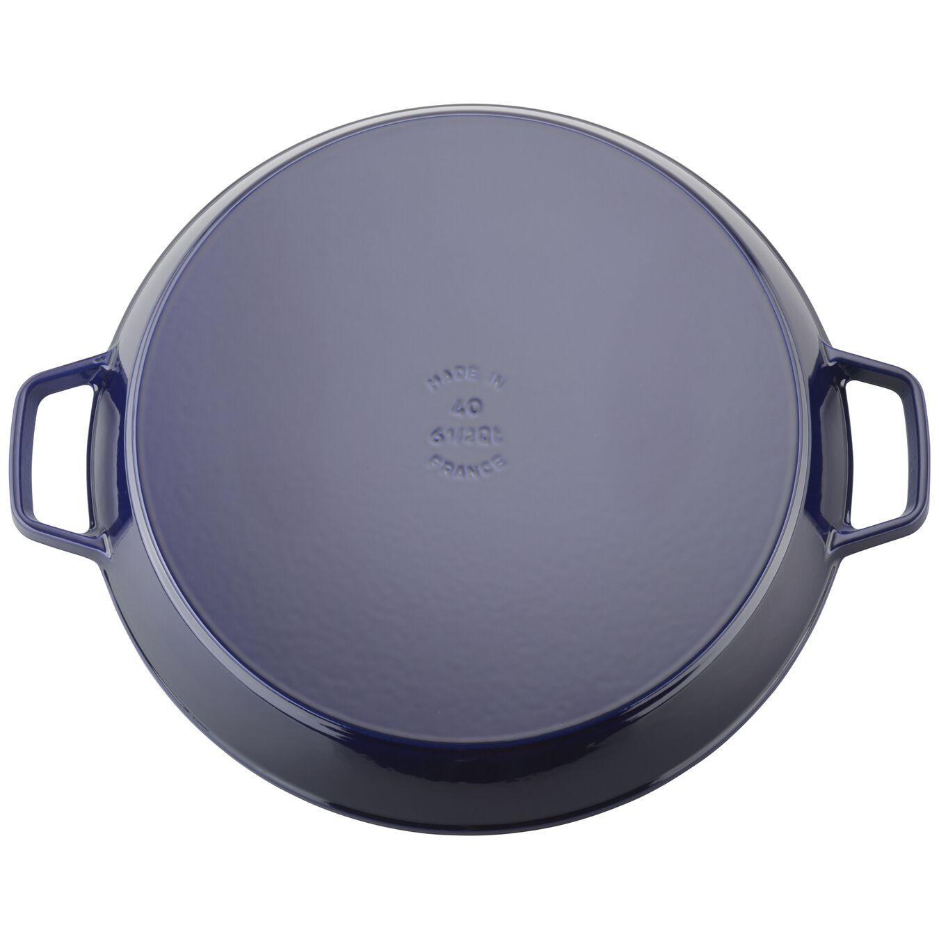 15-inch Double Handle Fry Pan / Paella Pan - Dark Blue,,large 3