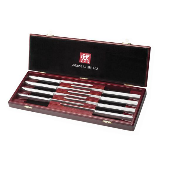 8-pc Stainless Steel Steak Knife Set w/Presentation Case,,large