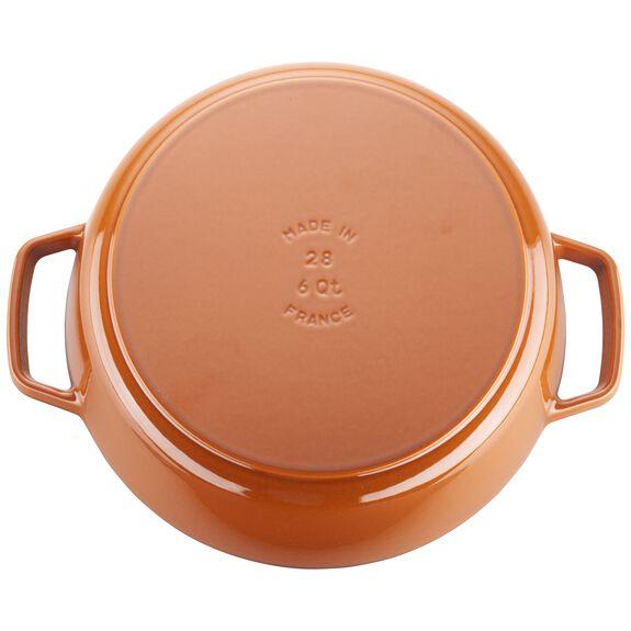 6-qt Cochon Shallow Wide Round Cocotte - Burnt Orange,,large 2