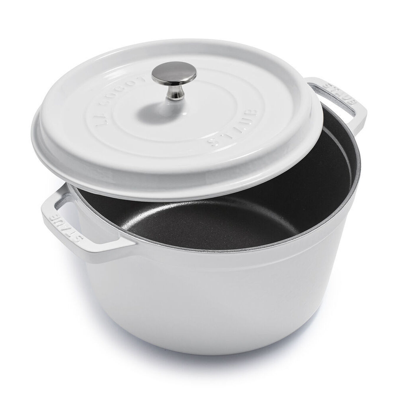 5 qt, round, Tall Cocotte, white,,large 1