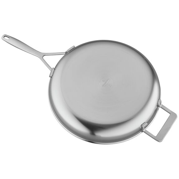 12.5-inch 18/10 Stainless Steel Frying pan,,large 2