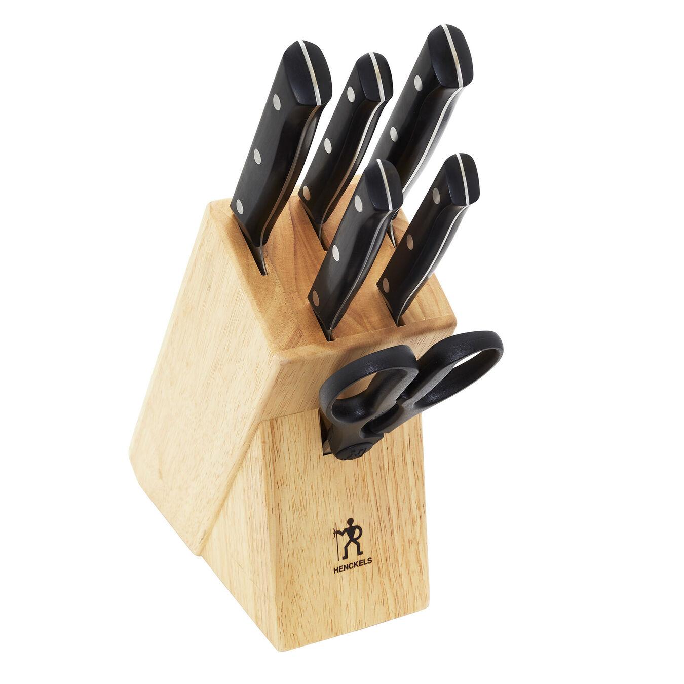 7-pc, Knife block set, black matte,,large 3