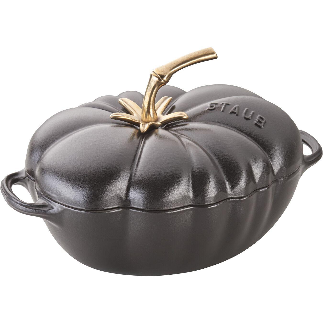 3 qt, tomato, Cocotte, black matte,,large 9