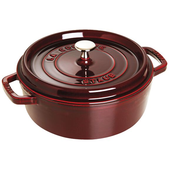 4-qt Shallow Wide Round Cocotte - Grenadine,,large 2