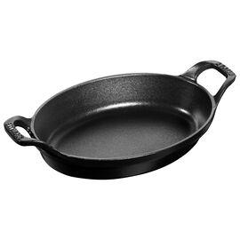 Staub Plats en fonte,  Cast iron oval Plat empilable, Black