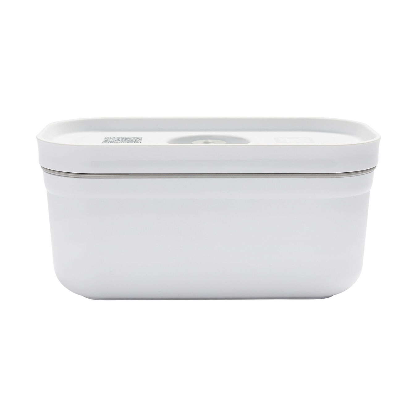 Vacuum lunch box, small, Plastic, White,,large 1