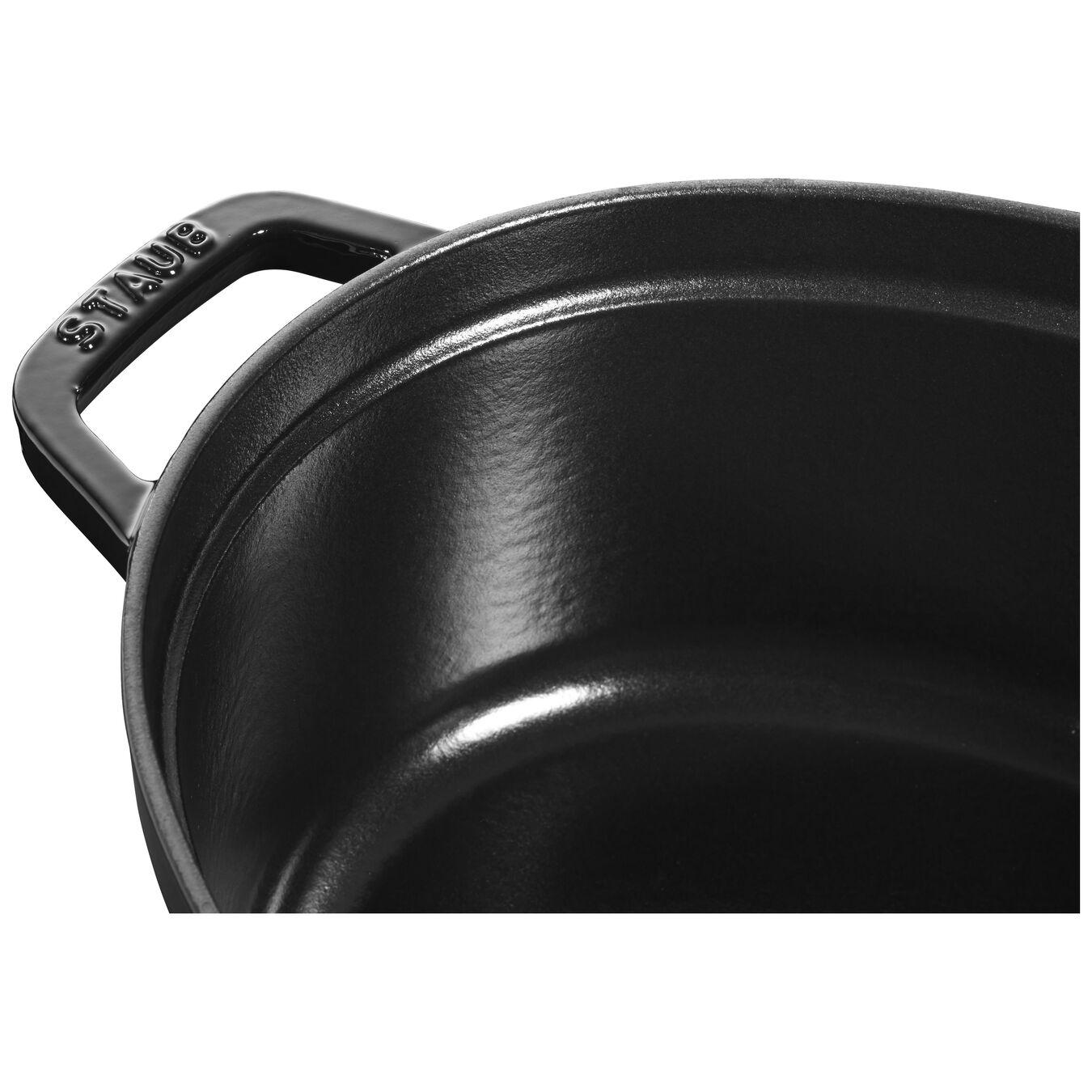 Cocotte 31 cm, Ovale, Noir brillant, Fonte,,large 2