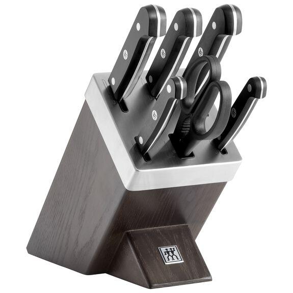 Blok Bıçak Seti Kendinden Bilemeli, 7-parça | Siyah,,large