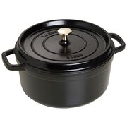 Staub Cast Iron, 5.5-qt round Cocotte, Black