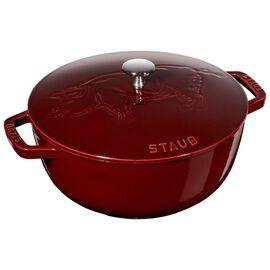 Staub Cast iron, 24-cm-/-9.5-inch round French oven Pig, Grenadine-Red