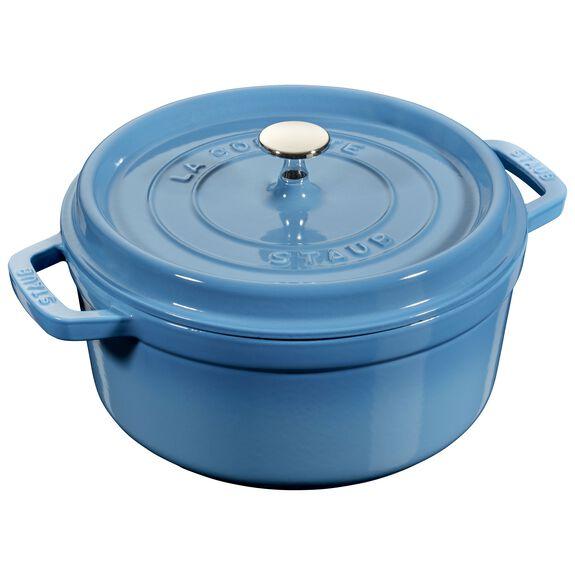 7-qt round Cocotte, Ice-Blue,,large