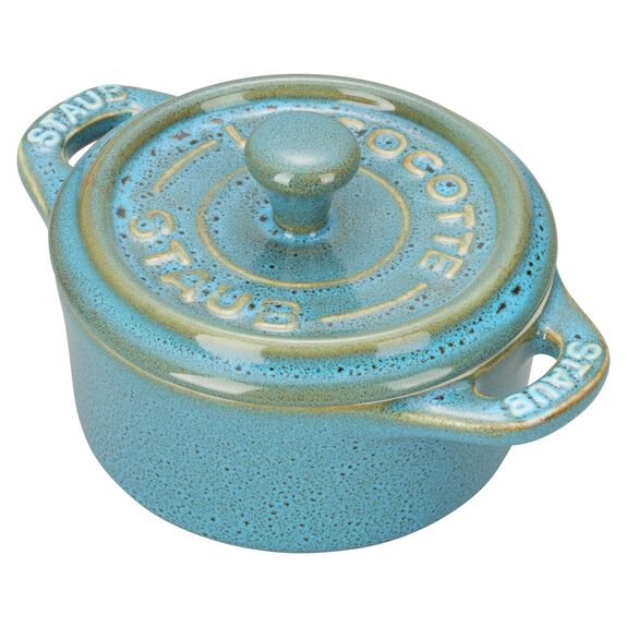 3-pc round Cocotte set, Rustic Turquoise,,large 5