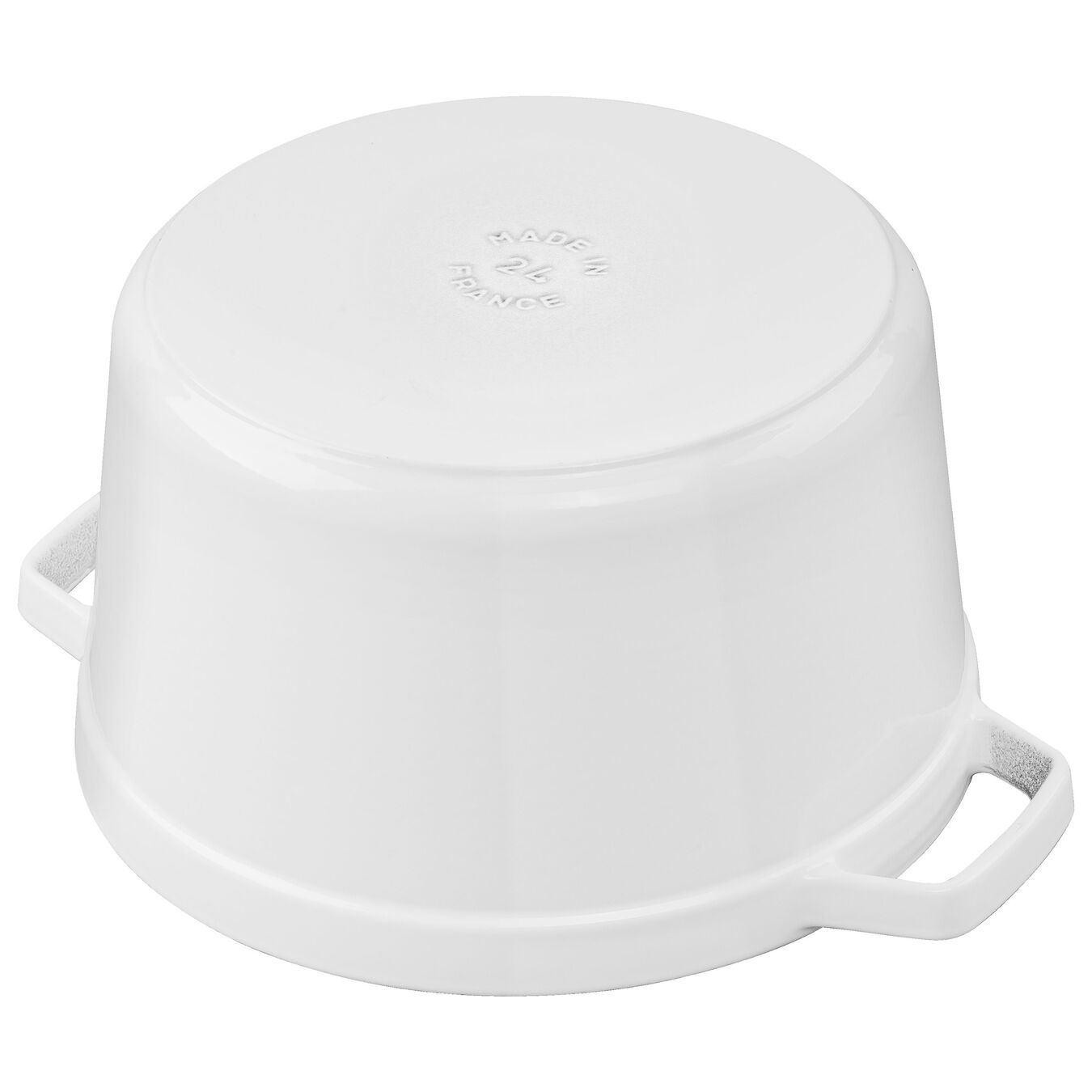 5 qt, round, Tall Cocotte, white,,large 3