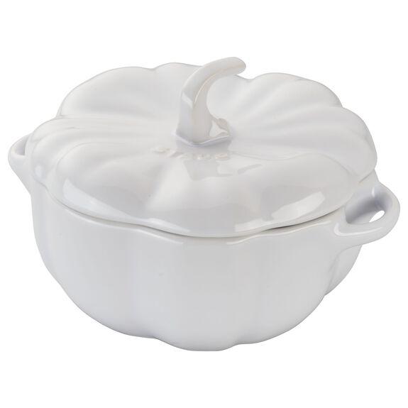 24-oz Pumpkin Cocotte, White, , large