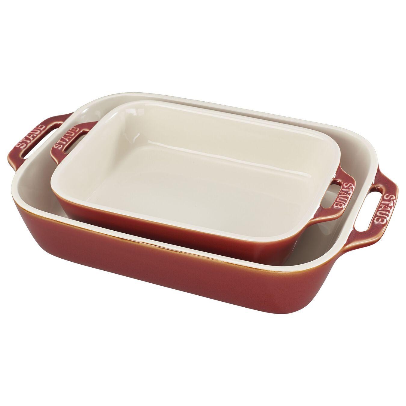 2 Piece rectangular Bakeware set, ancient-copper,,large 2
