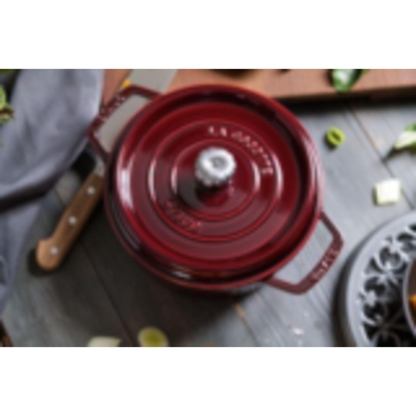 Cocotte 24 cm, rund, Grenadine-Rot, Gusseisen,,large 3