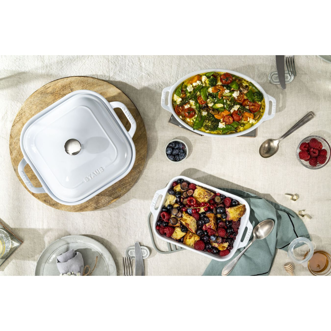 Ovenware set, 4 Piece | white,,large 5