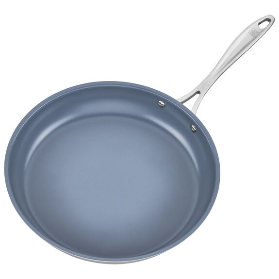 3-ply 12-inch Stainless Steel Ceramic Nonstick Fry Pan,,large 3