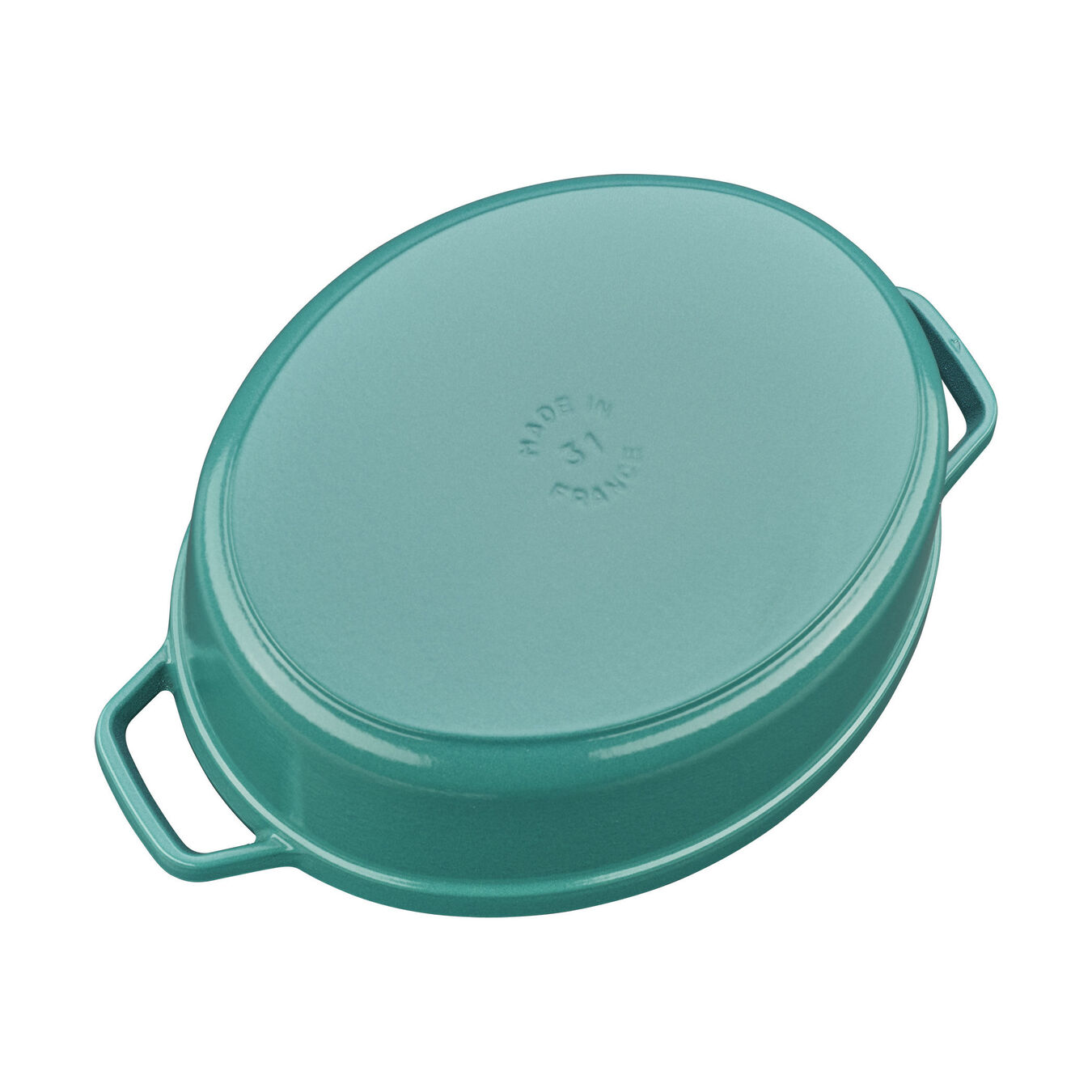 5.5 qt, oval, Coq au Vin Cocotte, turquoise,,large 3