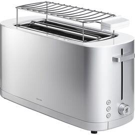 ZWILLING Enfinigy, Grille pain Grille permettant de réchauffer des petits-pains, 2 long slots, Argent