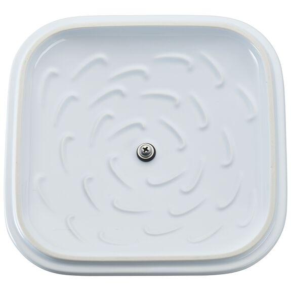 Ceramic Square Covered Baking Dish, White,,large 6