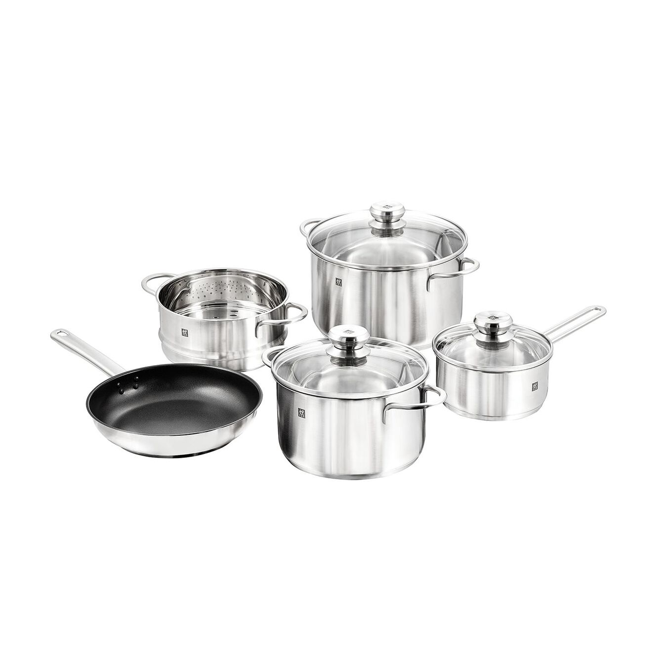 8 Piece 18/10 Stainless Steel Cookware set,,large 1