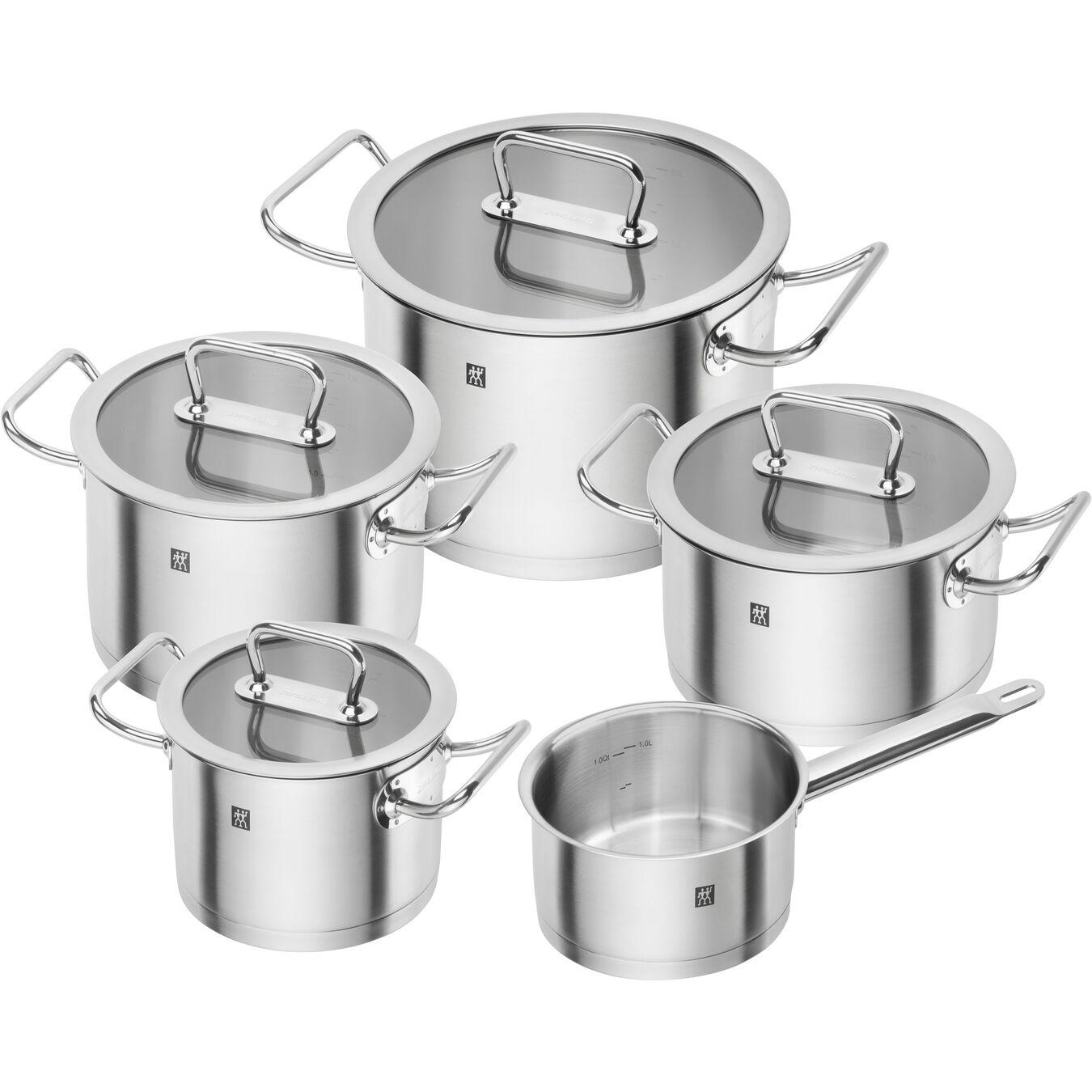 Set di pentole - 5-pz., acciaio,,large 1