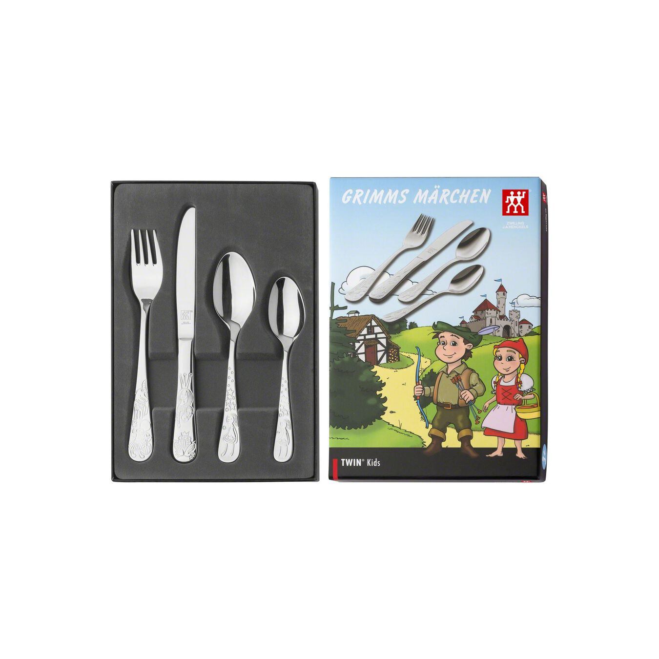 4-pc Children's flatware set, special formula steel ,,large 2