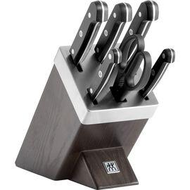 ZWILLING GOURMET, Blok Bıçak Seti Kendinden Bilemeli, 7-parça | Siyah | Dişbudak ağacı