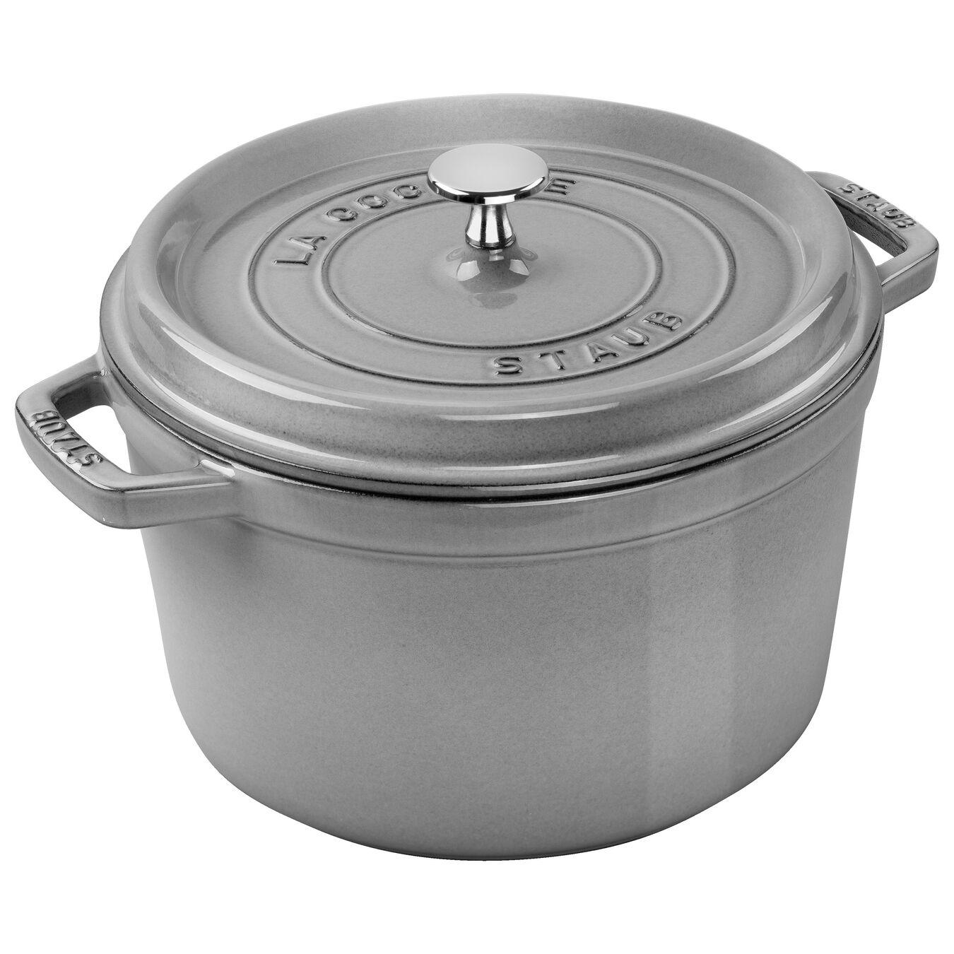 4,75 l Cast iron round Poêle à frire en fonte, Graphite-Grey,,large 1