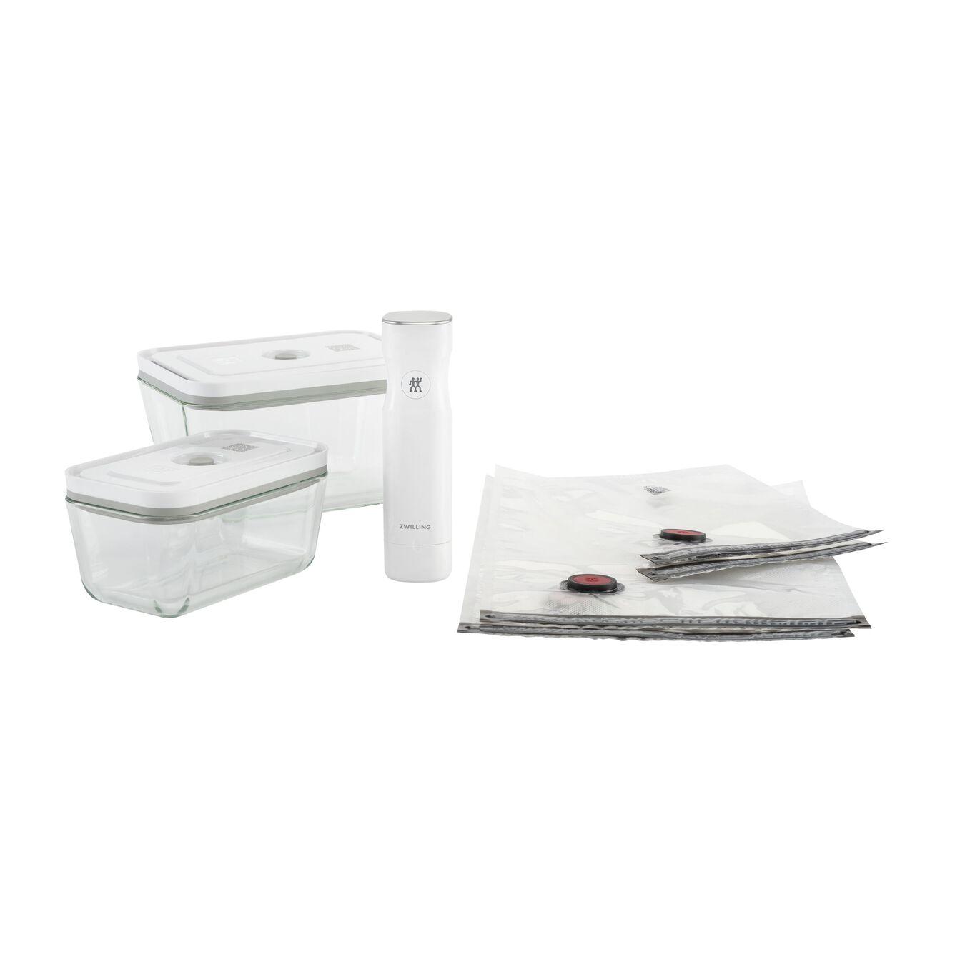 Primo set sottovuoto - vetro borosilicato / M/L, 7-pz., bianco,,large 1