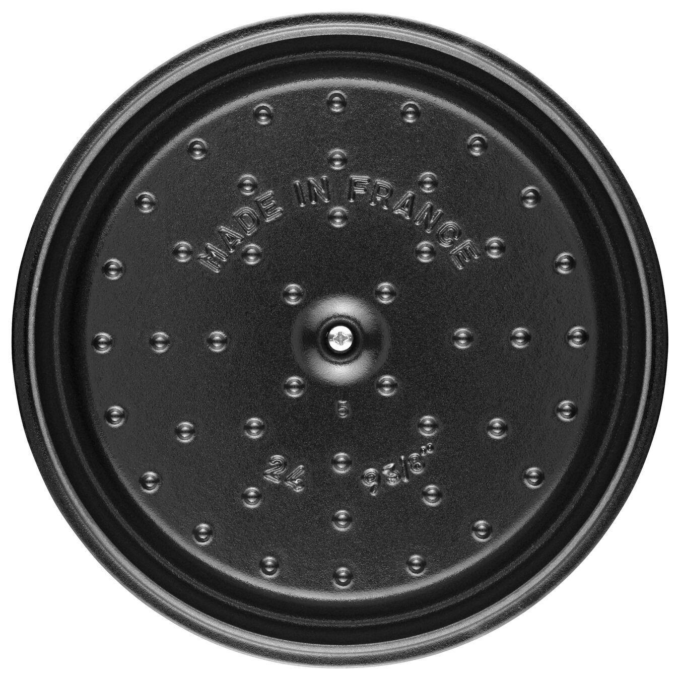 Caçarola 18 cm, redondo, Branco trufado, Ferro fundido,,large 5