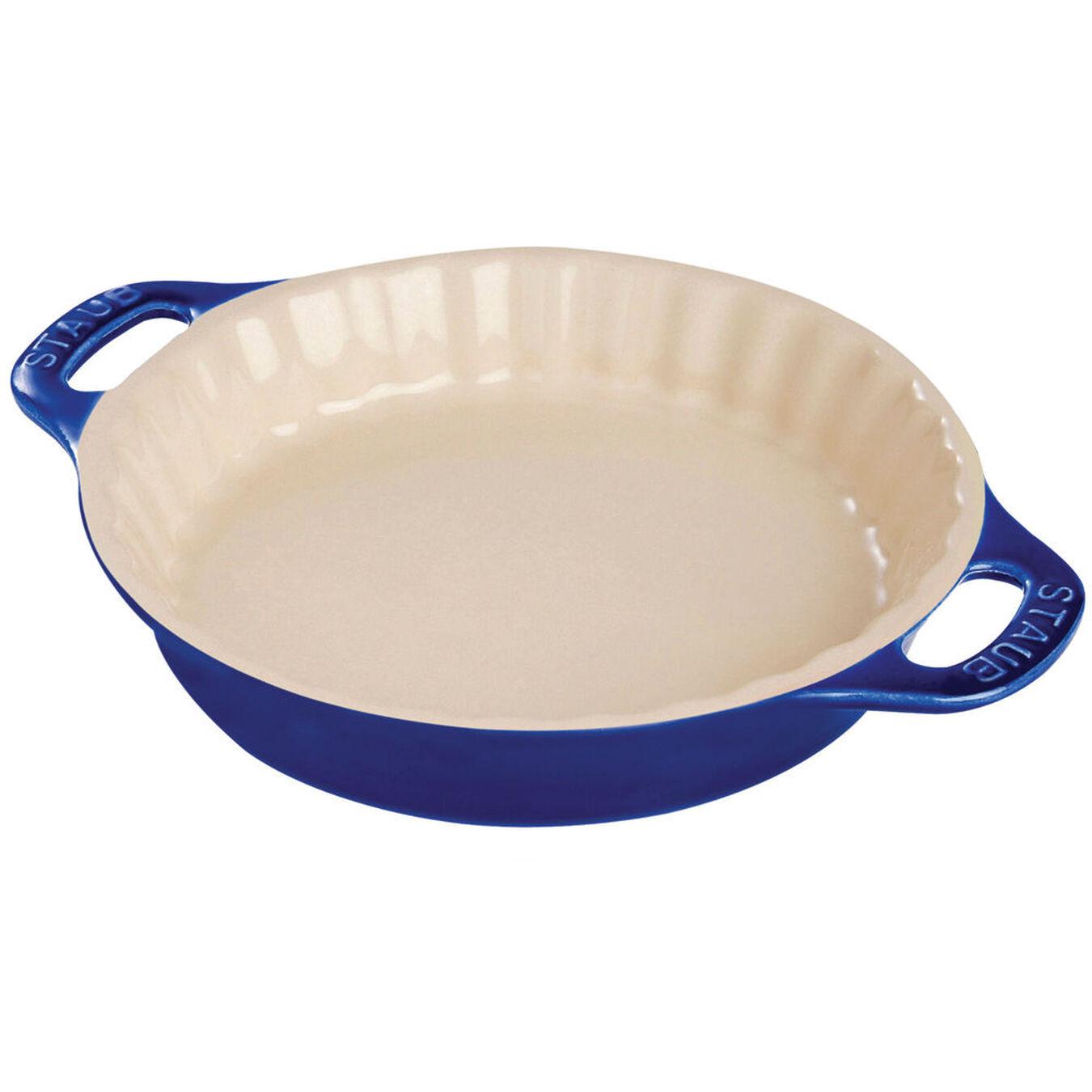 9-inch, Pie dish, dark blue,,large 1