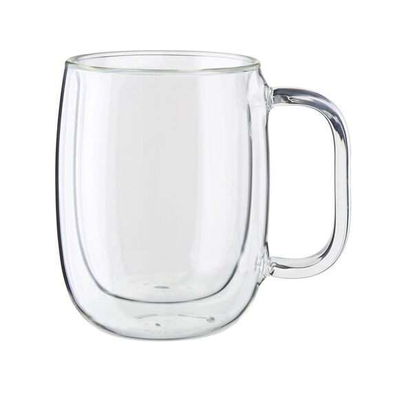 8-pc Double-Wall Glass Coffee Mug Set,,large 2