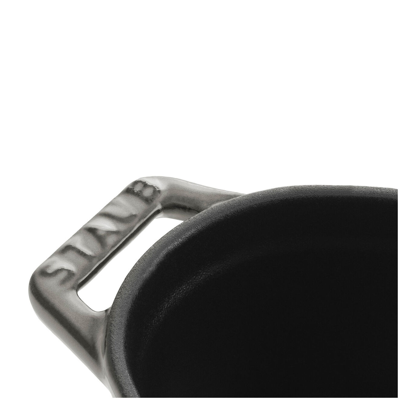 Mini cocotte ovale - 11 cm, grigio grafite,,large 3