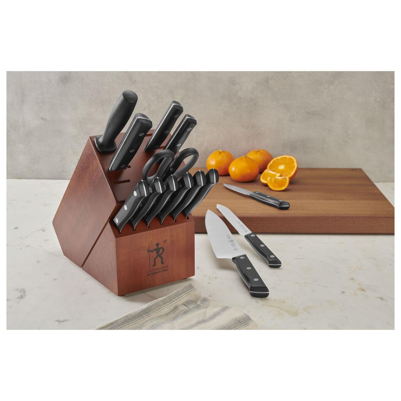 15-pc, Knife block set, brown,,large 2