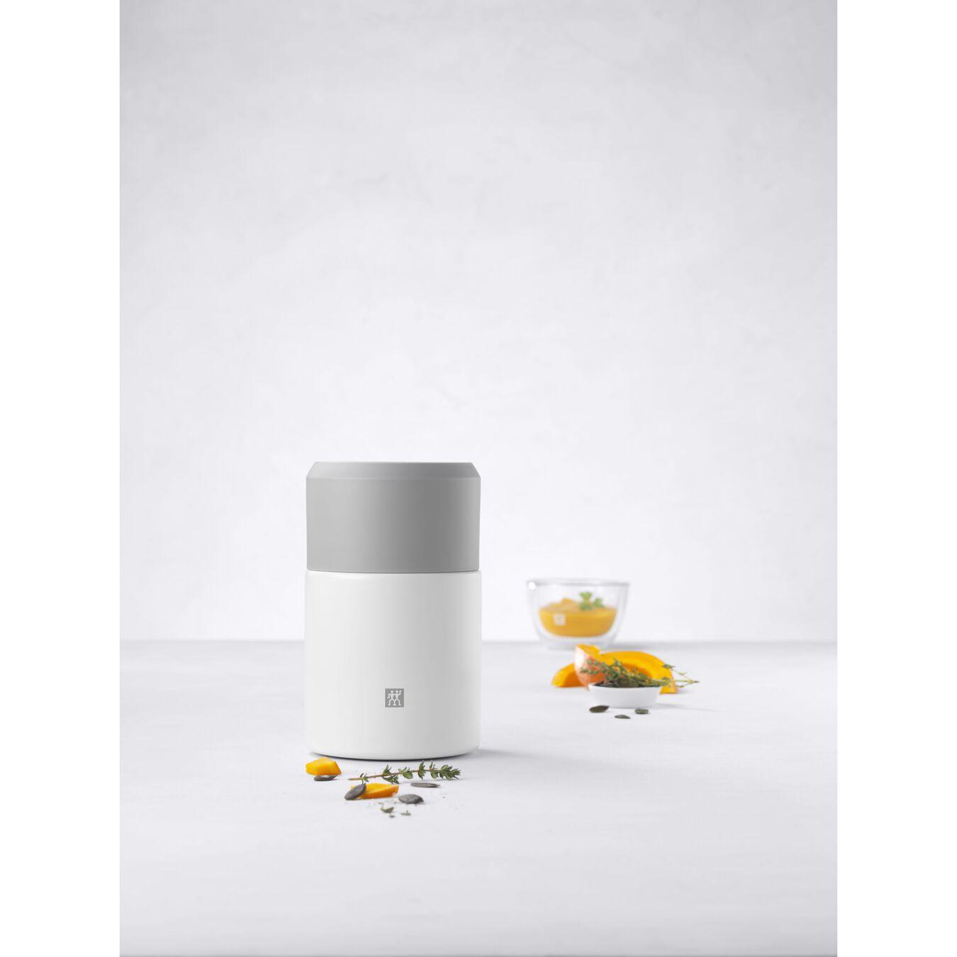 Recipiente alimentare - 700 ml, acciaio inox, bianco,,large 6