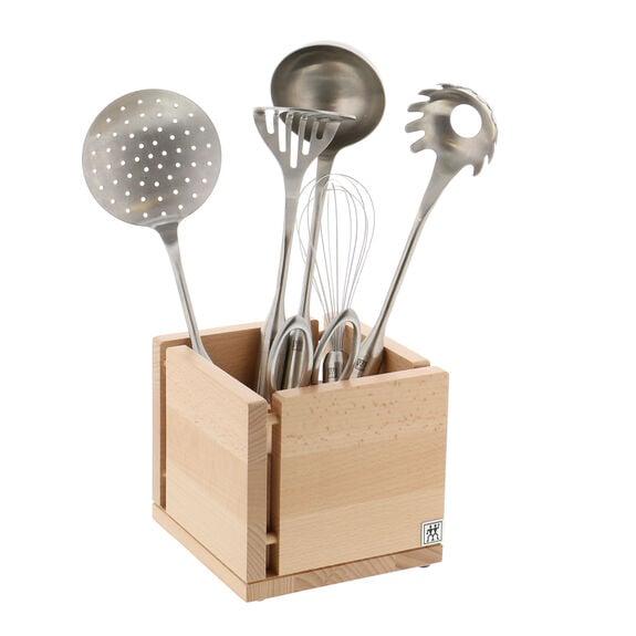 Kitchen Utensil Organizer - White-Colored Beechwood,,large 3