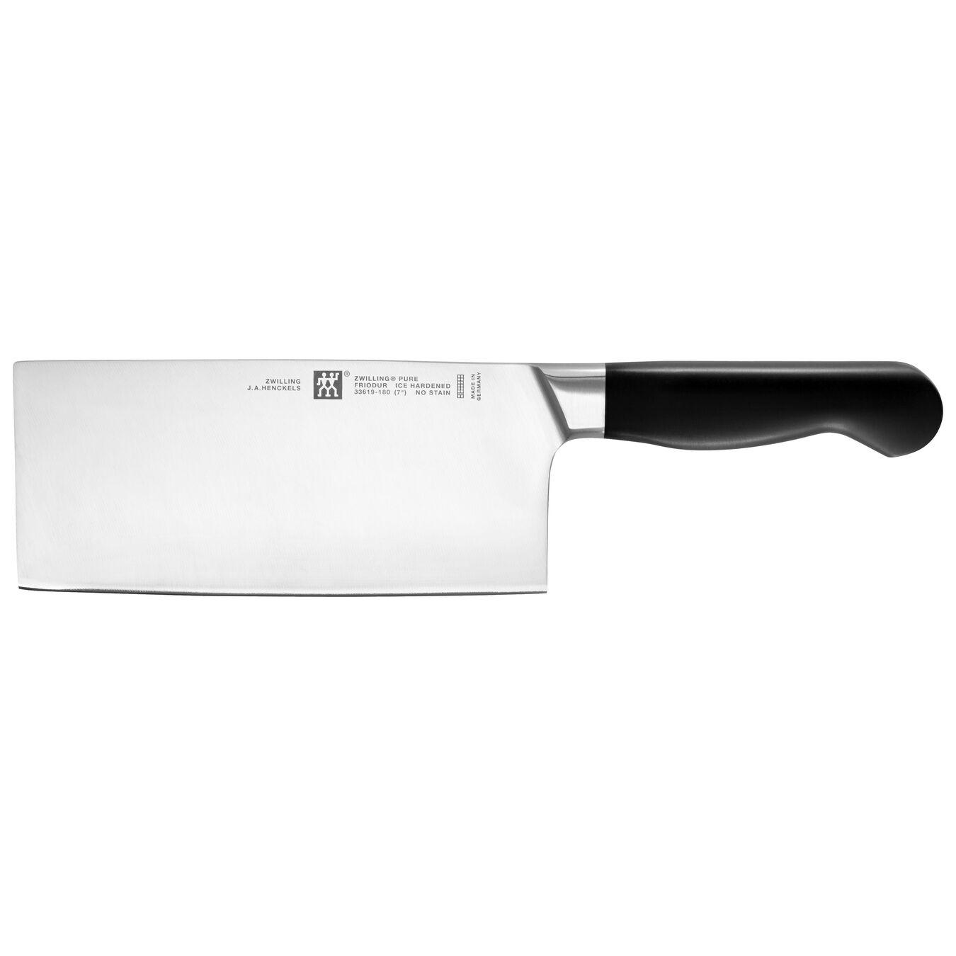 Coltello da cuoco modello cinese liscio - 18 cm, forgiato,,large 1