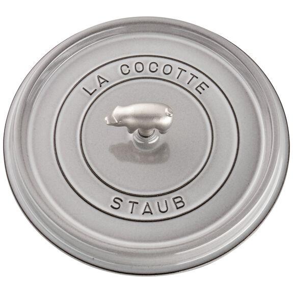 6-qt round Cocotte, Graphite Grey,,large 2