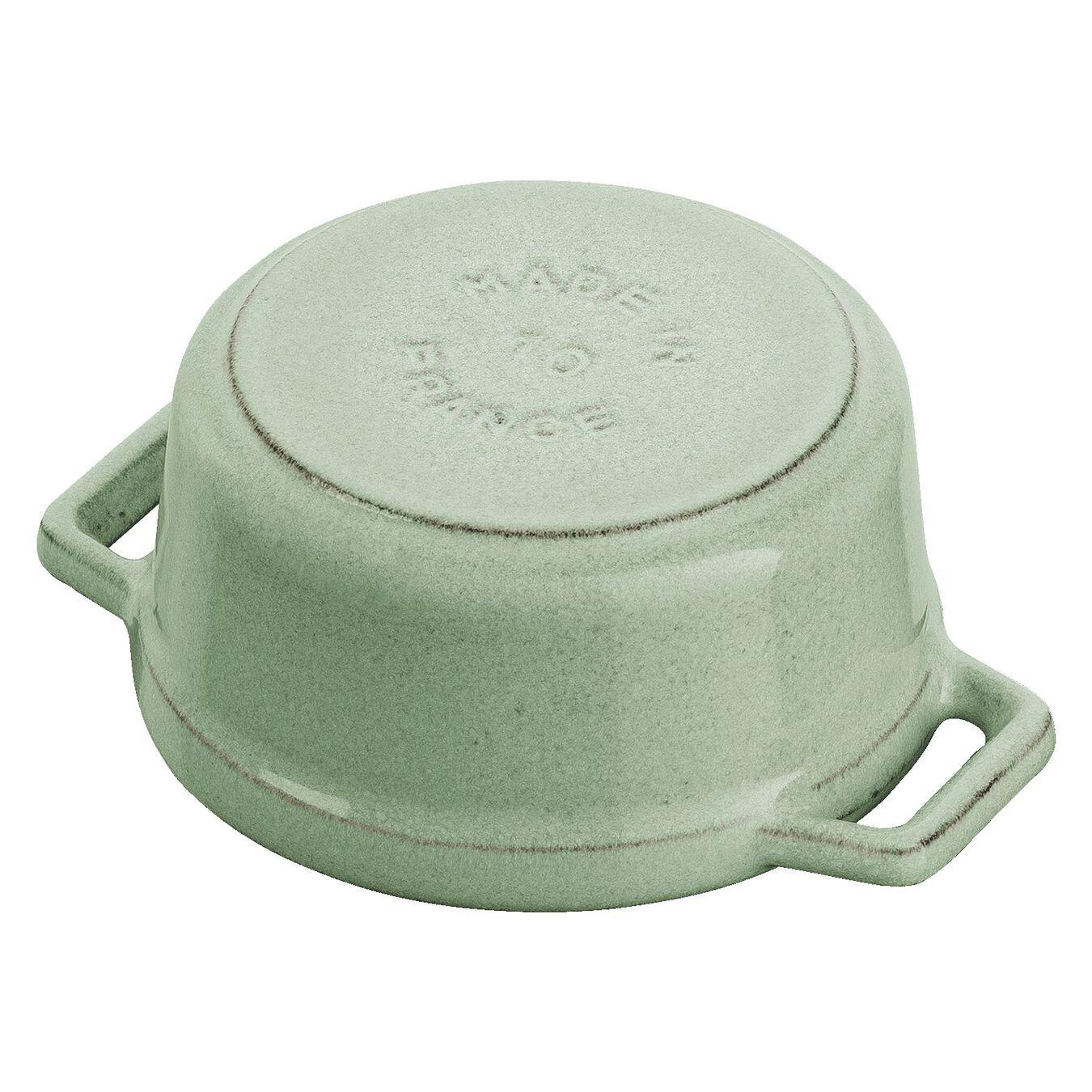 Mini cocotte rotonda - 10 cm, verde salvia,,large 5