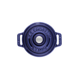Staub La Cocotte, Mini Cocotte 10 cm, redondo, azul marinho, Ferro fundido