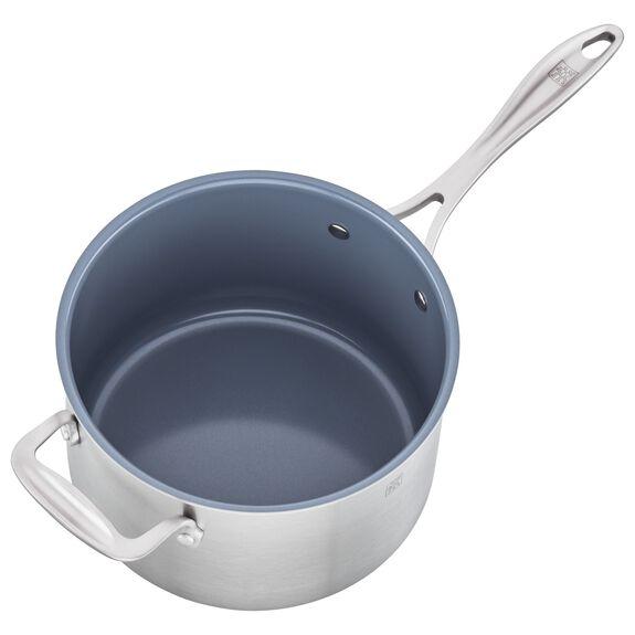 4-qt Ceramic Nonstick Saucepan, , large 4