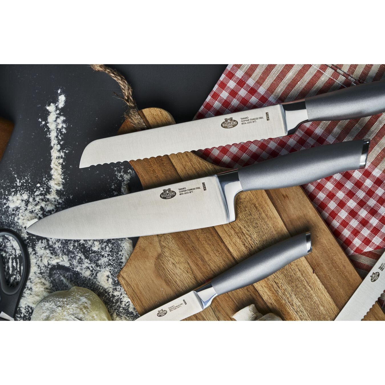 Set di coltelli con ceppo - 7-pz., naturale,,large 4