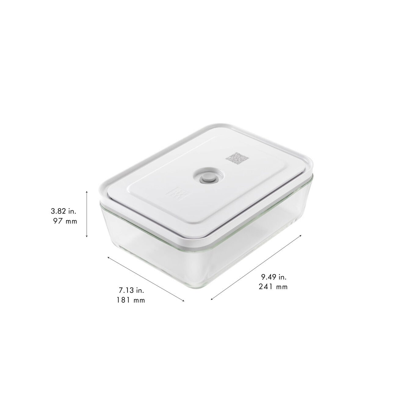 Vakuum Kühlschrankbox, Glas, Grau,,large 9