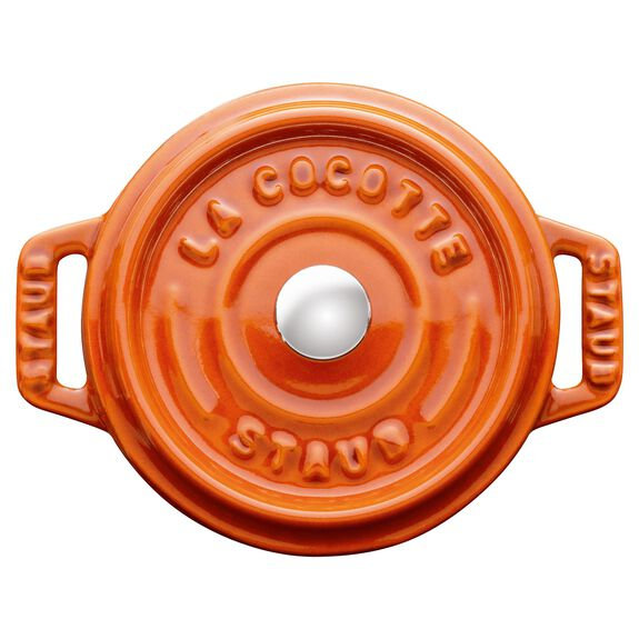 4-inch round Mini Cocotte, Burnt Orange,,large
