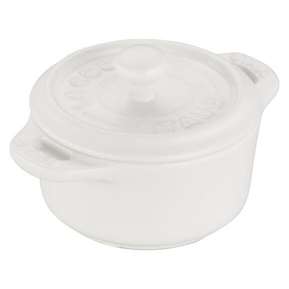 3-pc Mini Round Cocotte Set - Matte White,,large