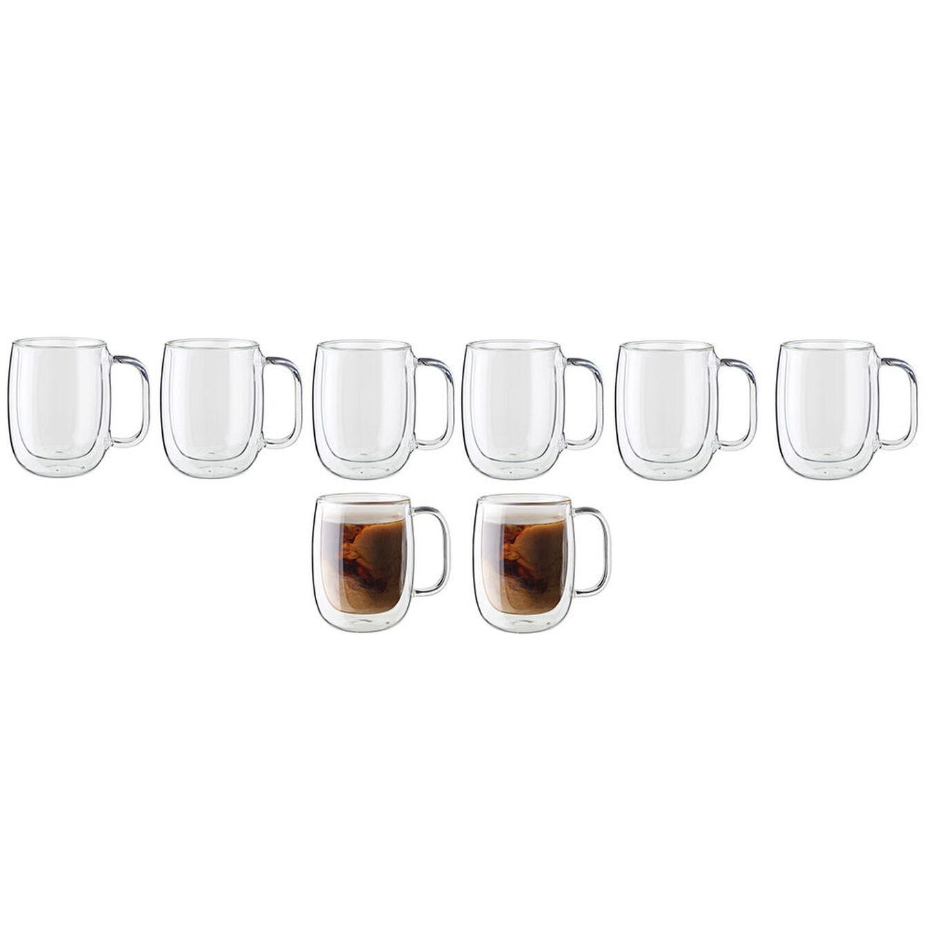8-pc Double-Wall Glass Coffee Mug Set,,large 1