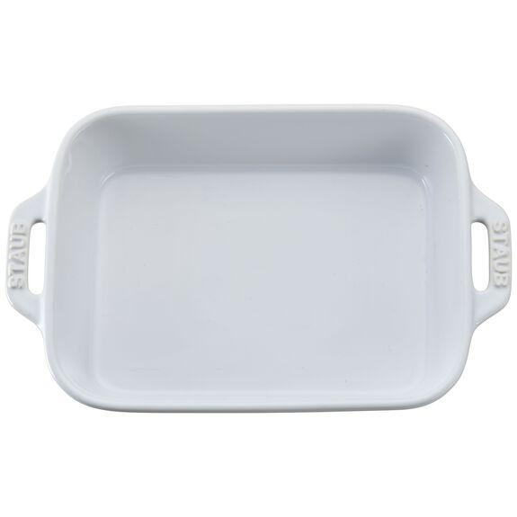 """7.5x6"""" Rectangular Baking Dish, White, , large"""
